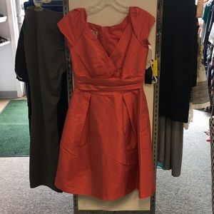 Alfred sung size 8 coral dress NWT